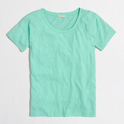 Sketched cotton drop-shoulder T-shirt