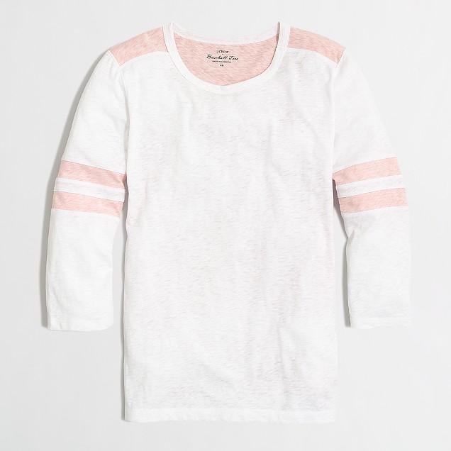 Sketched cotton colorblock T-shirt