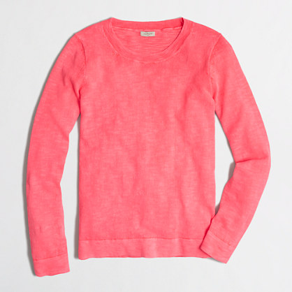 Slub cotton Teddie sweater