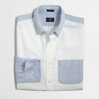 Slim pieced oxford shirt