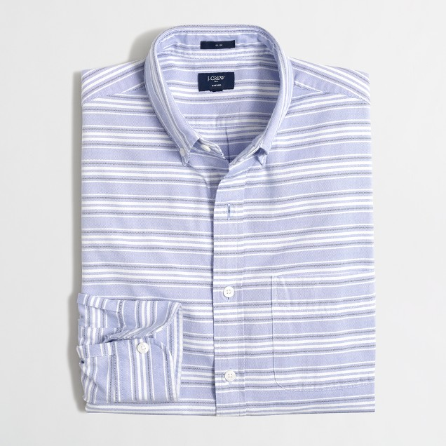 Slim sunwashed oxford shirt in multistripe