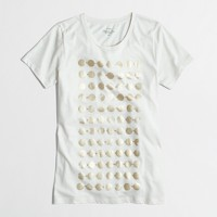Metallic dots collector T-shirt in airy cotton