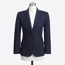 Factory cropped suiting blazer in cotton