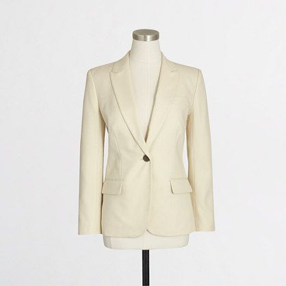 Cotton suiting blazer