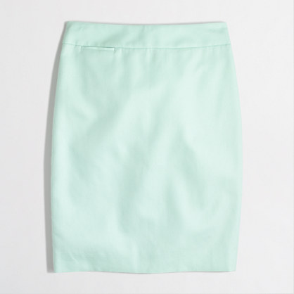Pencil skirt in cotton