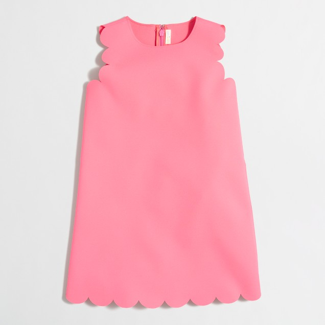 Girls' scalloped shift dress