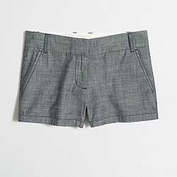 "Factory 3"" chambray short"