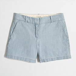 "Factory 5"" chambray short"