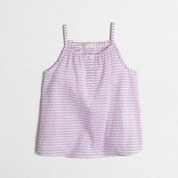 Girls' striped cami top