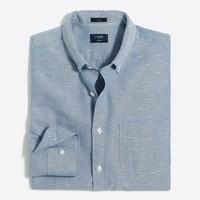 Slim oxford dobby shirt