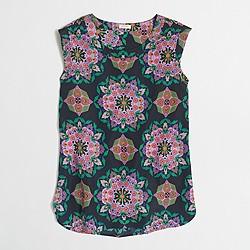 Factory petite printed drapey sleeveless top