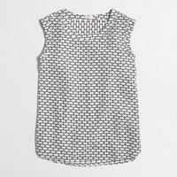 Petite printed drapey sleeveless top