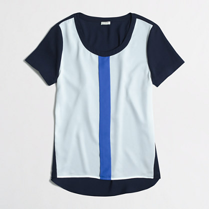 Colorblock t-shirt with stripe