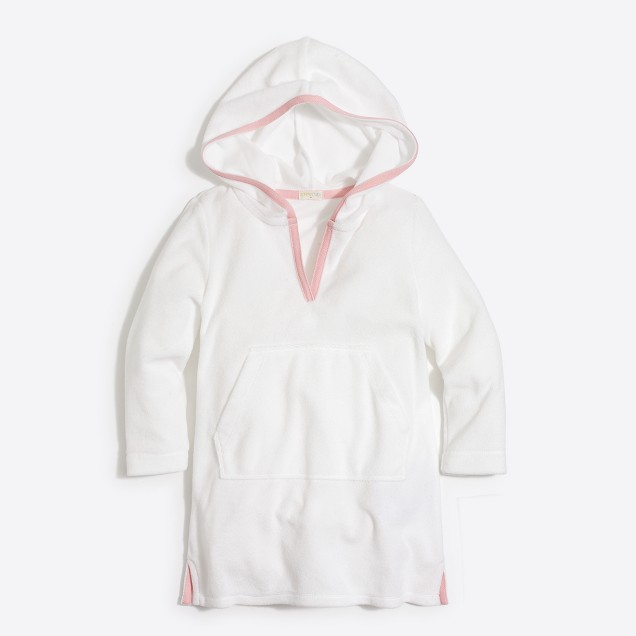 Girls' hooded terry cover-up