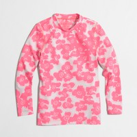 Girls' rash guard in tropical floral