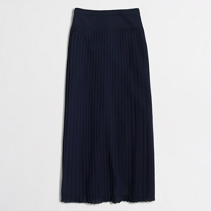 Factory pleated midi skirt