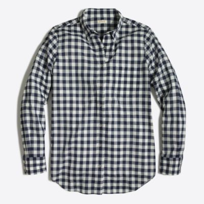 Gingham classic button-down shirt in boy fit : FactoryWomen Button ...