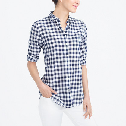 Gingham classic button-down shirt in boy fit