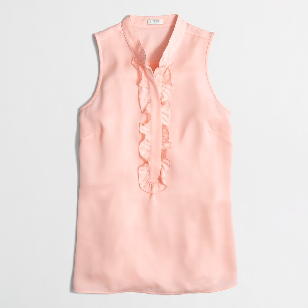 Pleated ruffle cami top