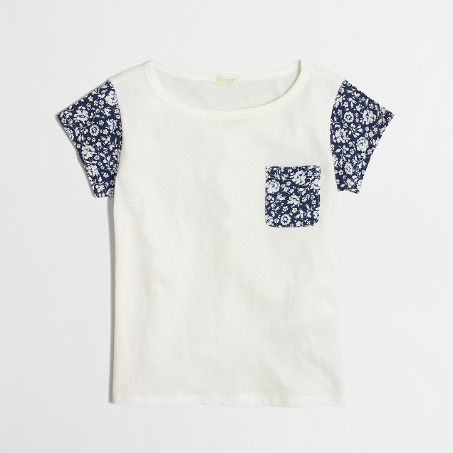Girls' printed sleeve t-SHIRT