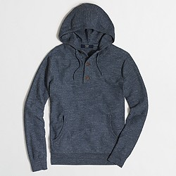 Factory henley cotton hoodie