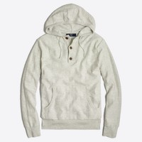 Henley cotton hoodie