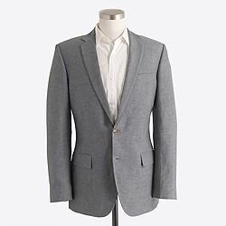 Factory Thompson suit jacket in slub linen