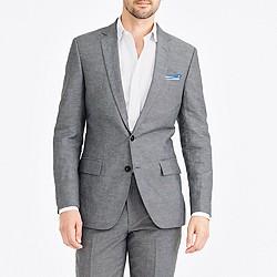 Thompson suit jacket in slub linen