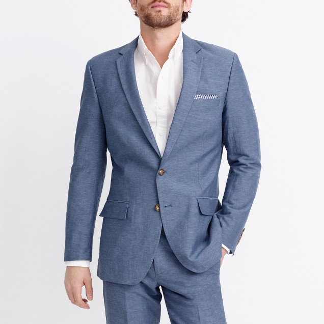 Thompson suit jacket in slub linen