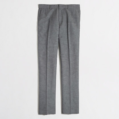 Slim Thompson suit pant in slub linen