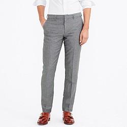 Slim Thompson suit pant in slub linen