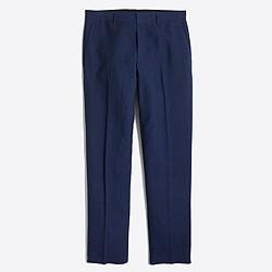 Factory slim Thompson suit pant in slub linen