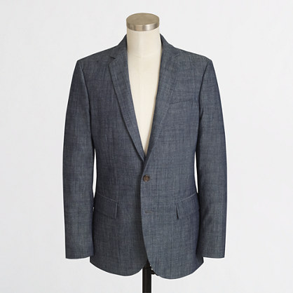 Thompson suit jacket in chambray