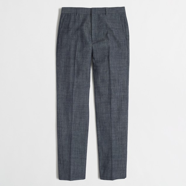 Slim Thompson suit pant in chambray