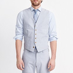 Thompson suit vest in seersucker
