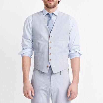 Thompson Suit Vest In Seersucker Suits J Crew Factory