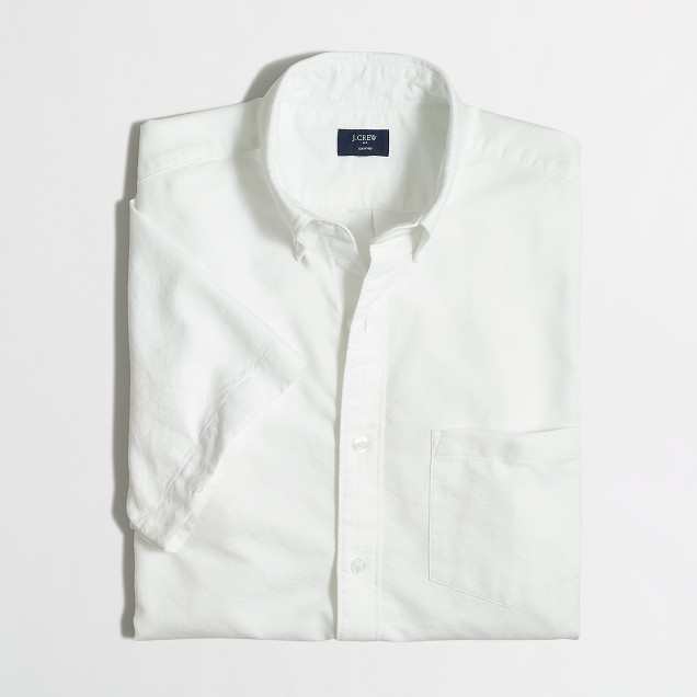 Short-sleeve oxford shirt
