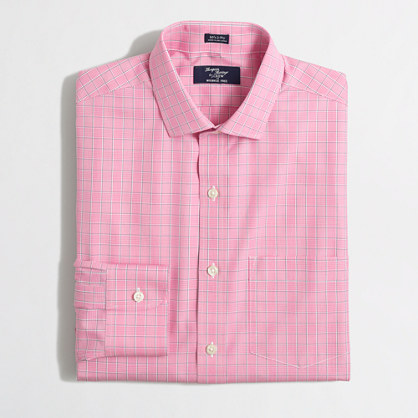 Wrinkle-free Voyager dress shirt in open tattersall