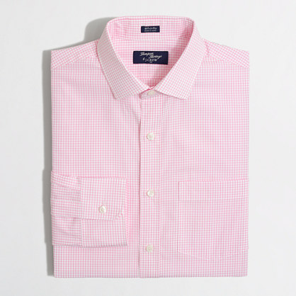 Thompson dress shirt in medium tattersall