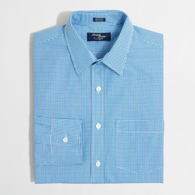 Thompson dress shirt in blue tattersall