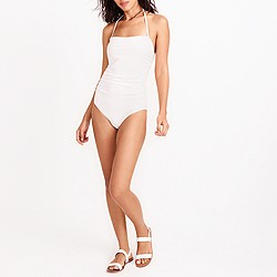 Strapless one-piece swimsuit
