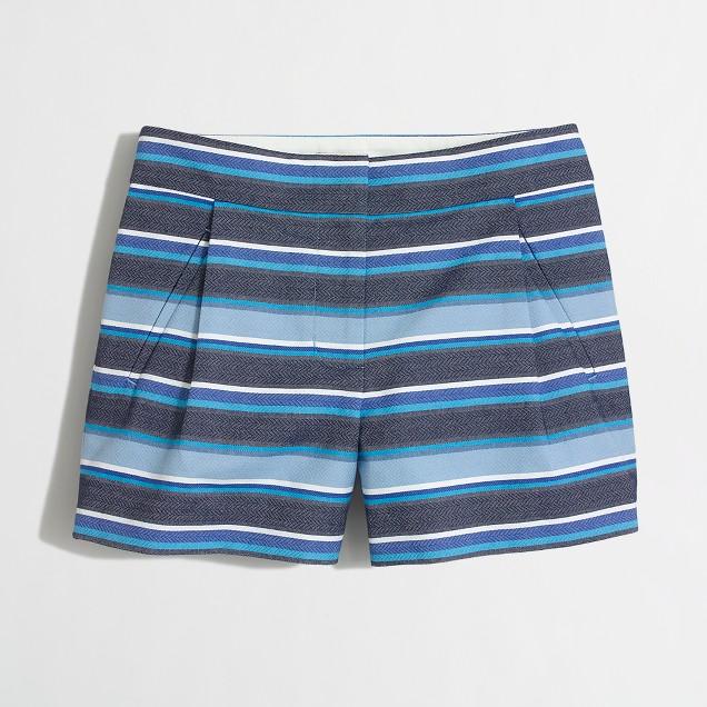 Textured-stripe short