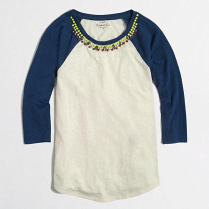 Jeweled baseball T-shirt