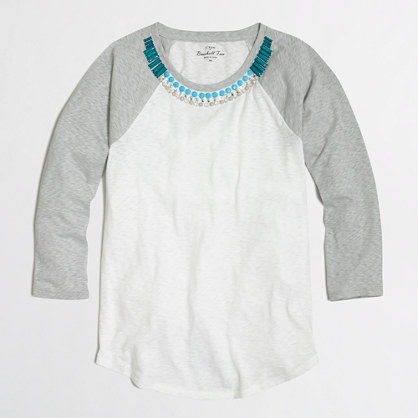 Jeweled baseball T-shirt