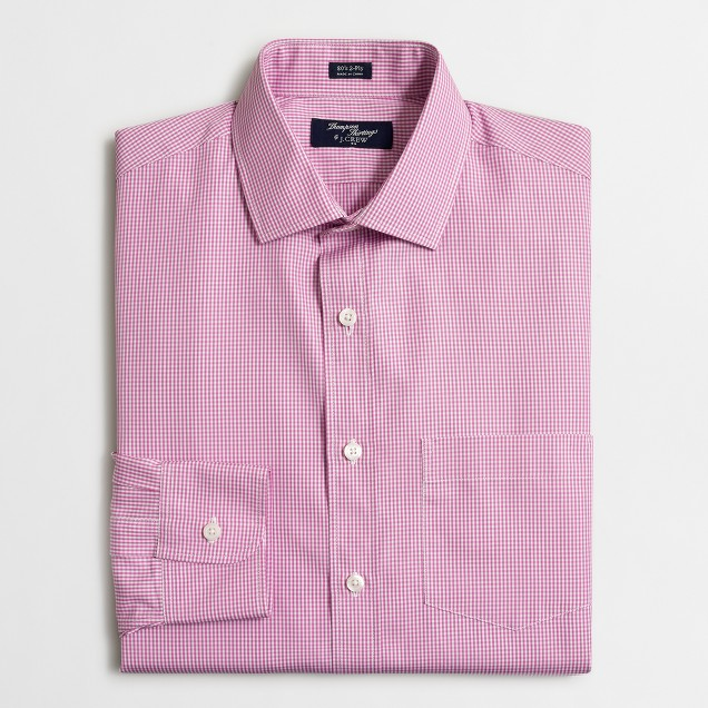 Tall wrinkle-free Voyager dress shirt in gingham