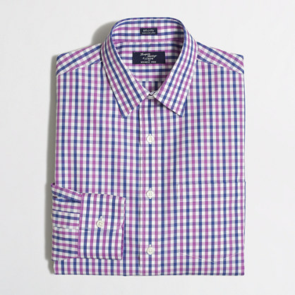 Wrinkle-free Voyager dress shirt in gingham