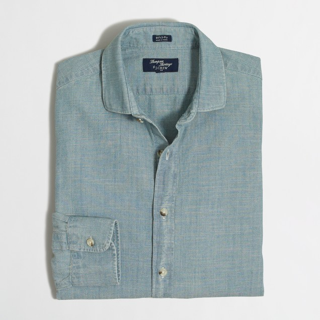 Thompson dress shirt in chambray