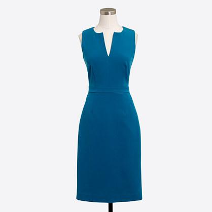 Split-neck dress