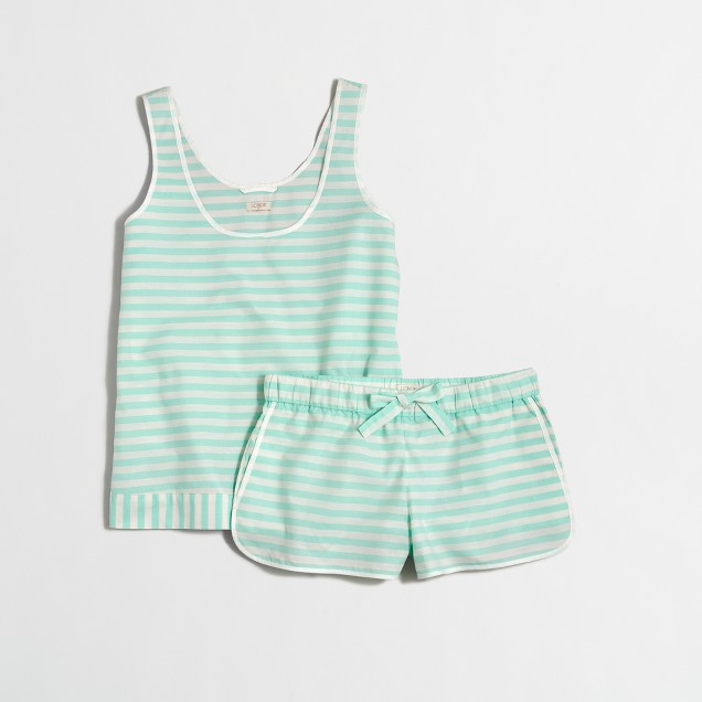 Striped tank pajama set