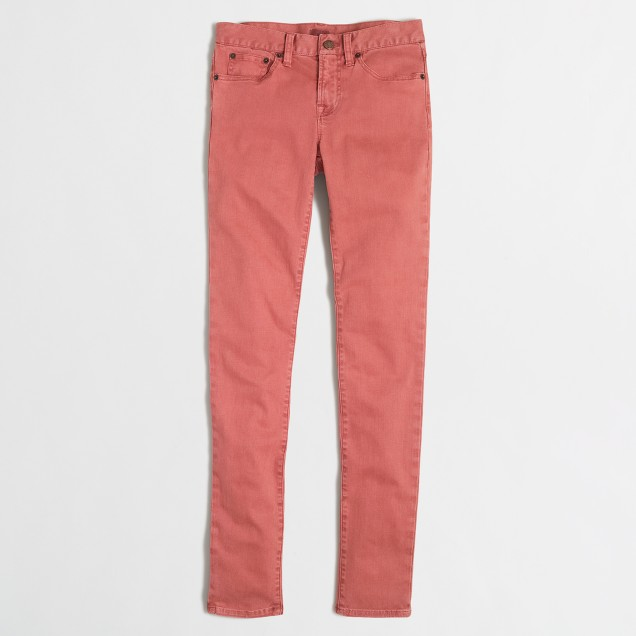 Garment-dyed skinny jean